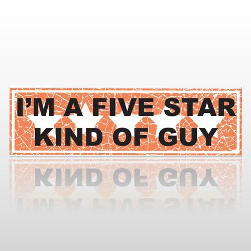 Five Star 77 Bumper Sticker