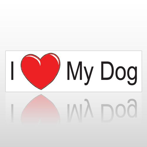Heart Dog 188 Bumper Sticker