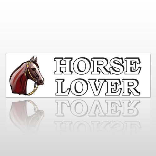 Horse Lover 185 Bumper Sticker