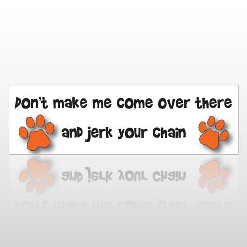 Jerk Your Chain 197 Bumper Sticker