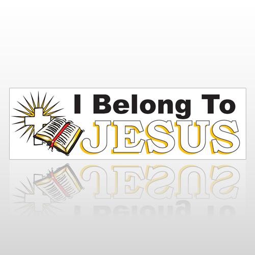 Jesus Belong 203 Bumper Sticker