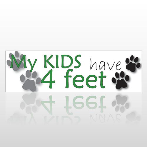 Kids Feet 198 Bumper Sticker