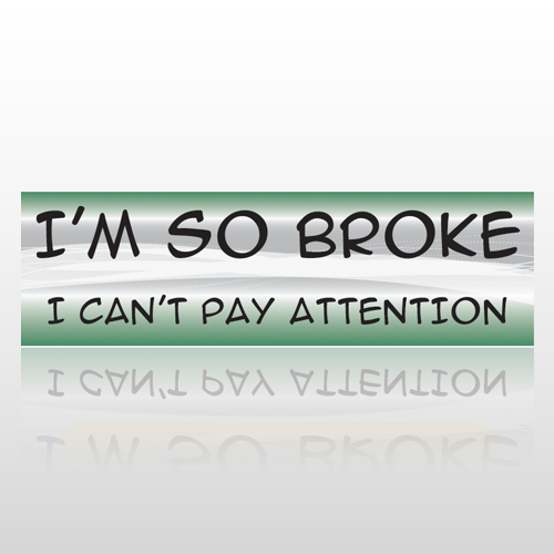 Pay Attention 28 Bumper Sticker