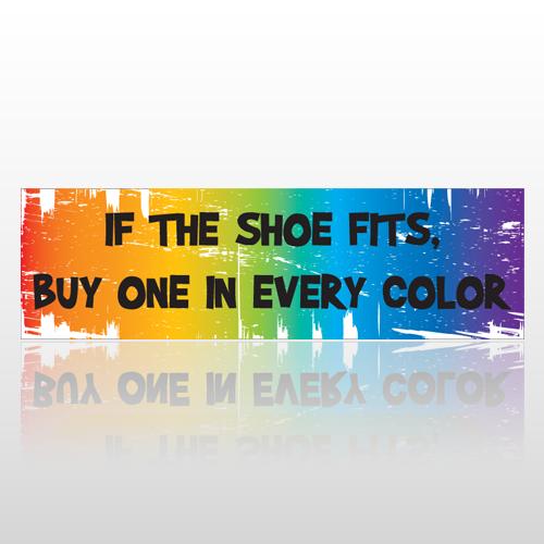 Shoe Fits 67 Bumper Sticker