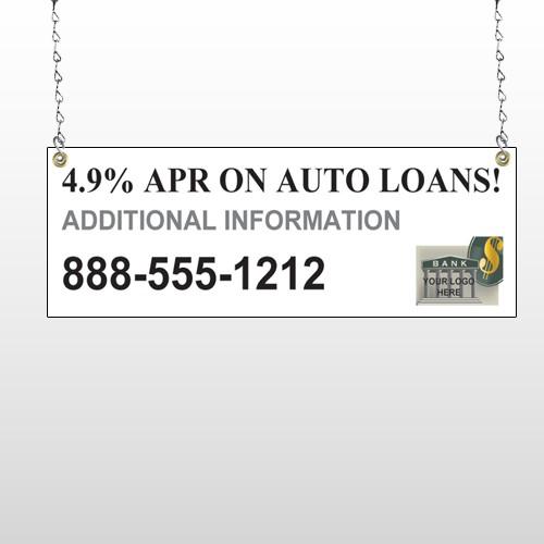 Auto Loan 155 Window Sign