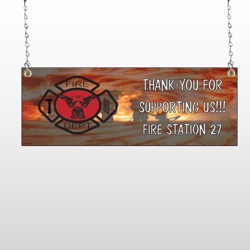 Fire 432 Window Sign