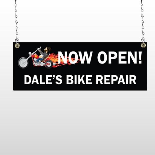 Harley Flames 323 Window Sign