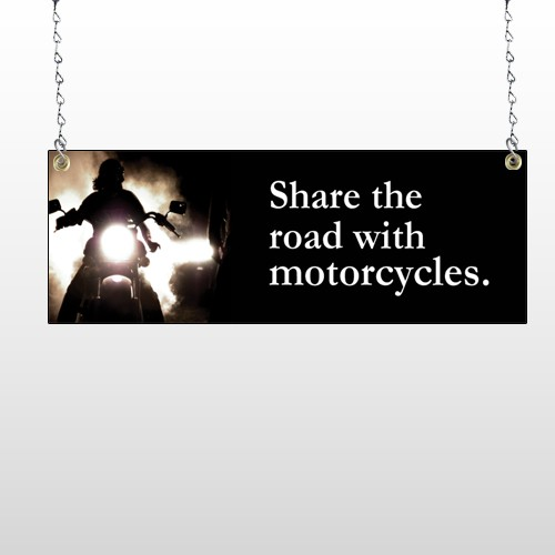 Motorcycle 321 Window Sign
