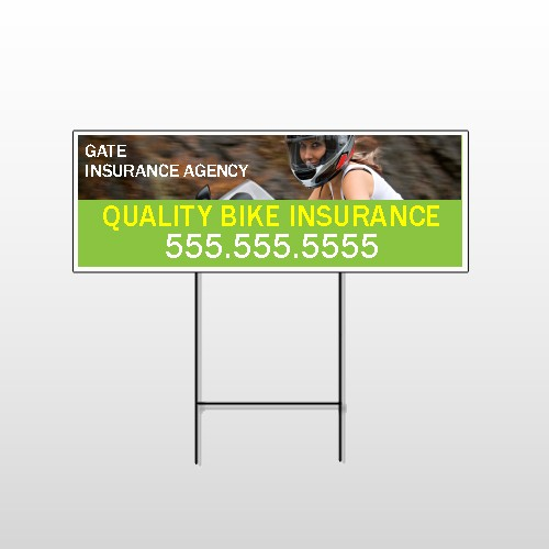 Bike Insurance 110 Wire Frame Sign