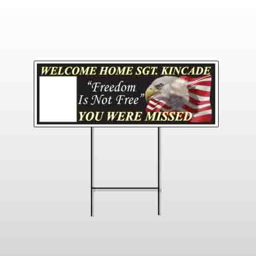 Eagle Flag 307 Wire Frame Sign