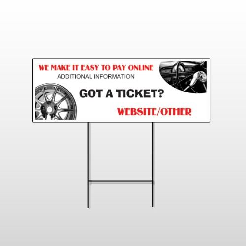 Steering Wheel 154 Wire Frame Sign