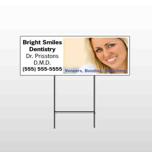 Dental 48 Wire Frame Sign Tempalte