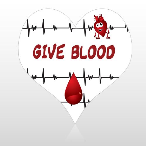 Blood 23 Floor Decal Heart