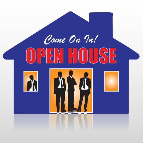 Open 699 Floor Decal House