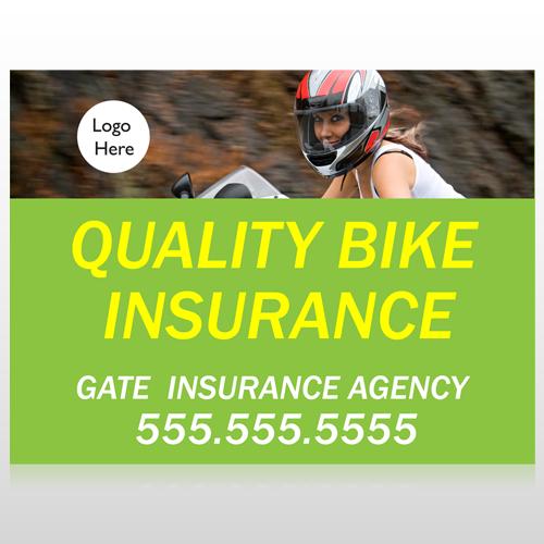 Bike Insurance 110 Site Sign