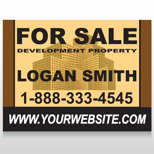 Brown Buildings 858 Site Sign