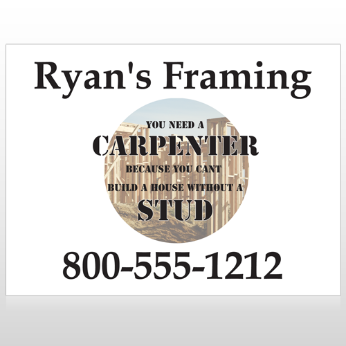 Framing 237 Custom Sign\