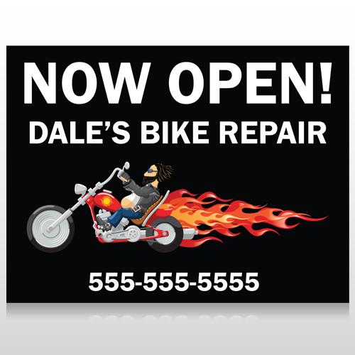 Harley Flames 323 Custom Sign