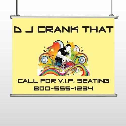DJ Crank Night 369 Hanging Banner