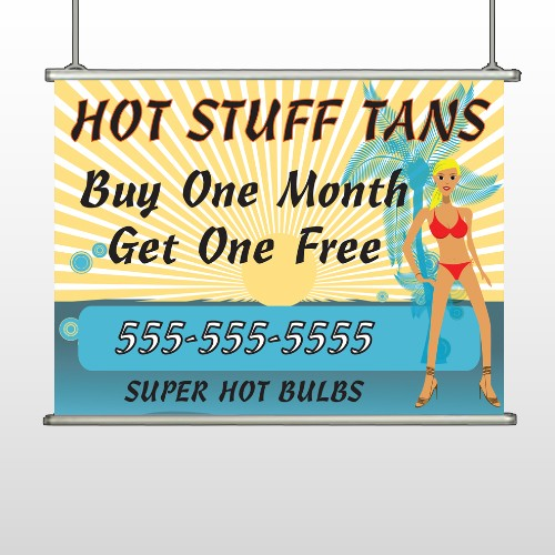 Hot Beach Tan 299 Hanging Banner