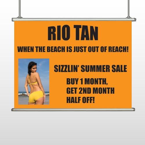Rio Tan Beach 489 Hanging Banner