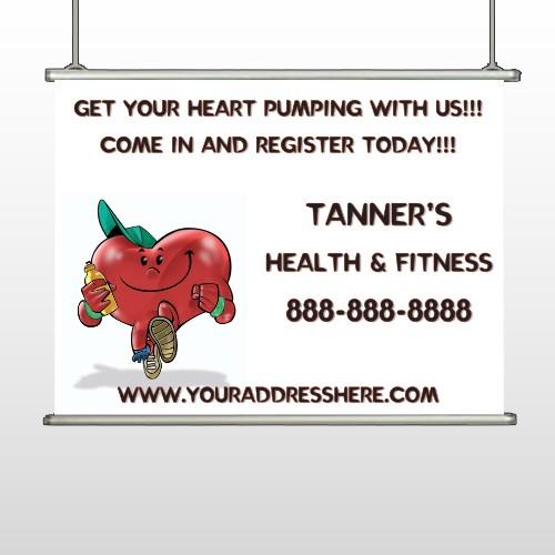 Running Heart 401 Hanging Banner