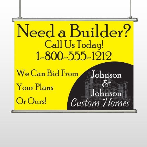 Yellow House Plan 216 Hanging Banner