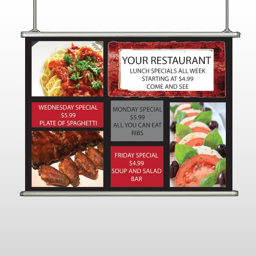 Restaurant Specials 370 Hanging Banner
