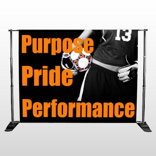 Black 53 Pocket Banner Stand