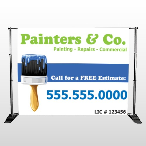 Blue Paint Brush 305 Pocket Banner Stand