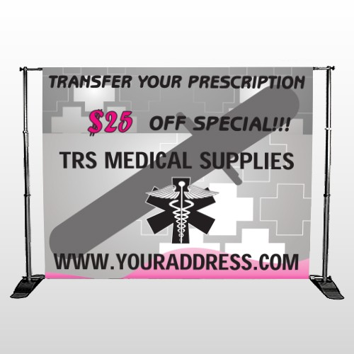 Caduceus Med 503  Pocket Banner Stand