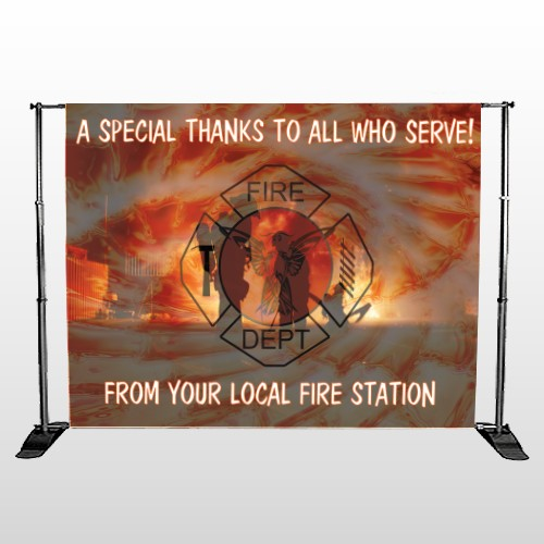 Fire 432 Pocket Banner Stand