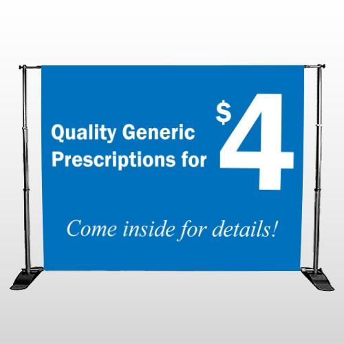 Pharmacy 334 Pocket Banner Stand