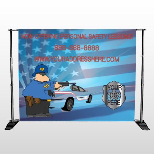 Police Thanks 429 Pocket Banner Stand