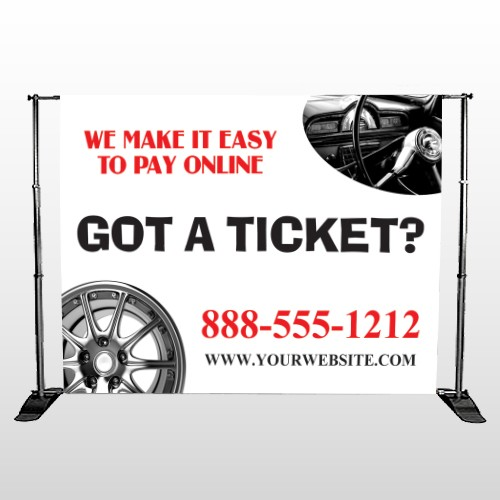 Steering Wheel 154 Pocket Banner Stand