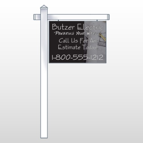 "Black And Book 217 18""H x 24""W Swing Arm Sign"