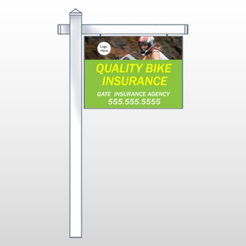 "Bike Insurance 110 18""H x 24""W Swing Arm Sign"