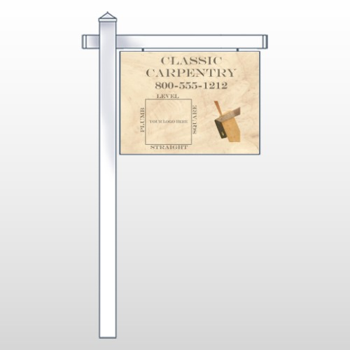 "Carpentry 236 18""H x 24""W Swing Arm Sign"