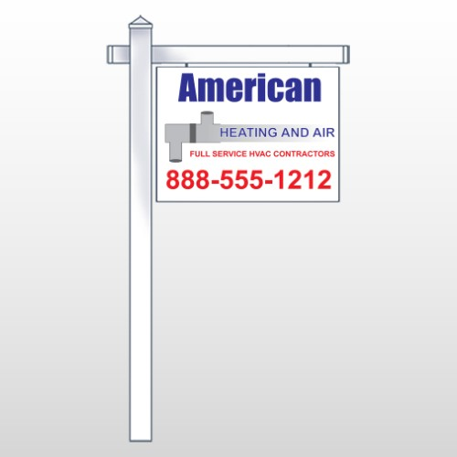 """Construction 243 18""""H x 24""""W Swing Arm Sign"""