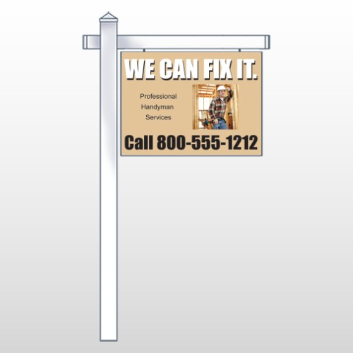 "Handyman 240 18""H x 24""W Swing Arm Sign"