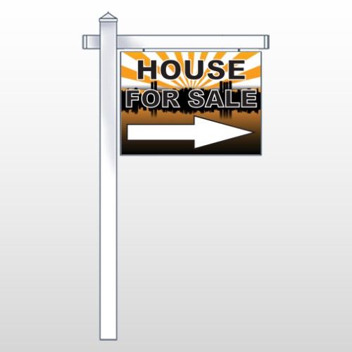 """House Sale 719 18""""H x 24""""W Swing Arm Sign"""