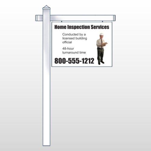 """Inspection 244 18""""H x 24""""W Swing Arm Sign"""