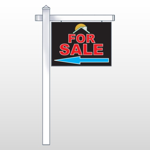 """Moon Roof 724 18""""H x 24""""W Swing Arm Sign"""