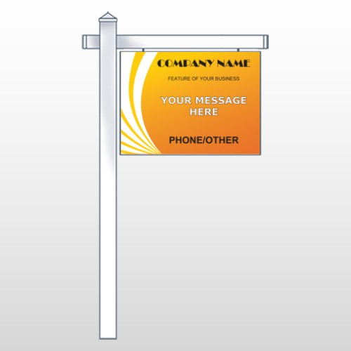 "Law 142  18""H x 24""W Swing Arm Sign"