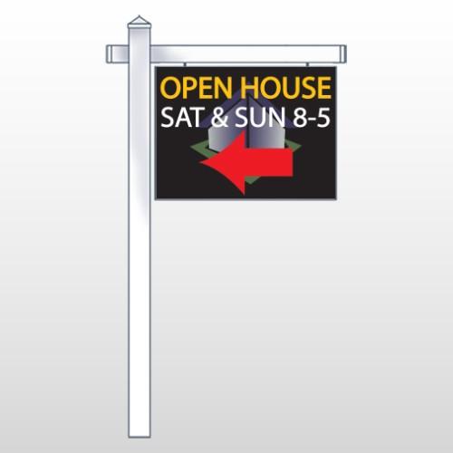 "Open Corner 648 18""H x 24""W Swing Arm Sign"