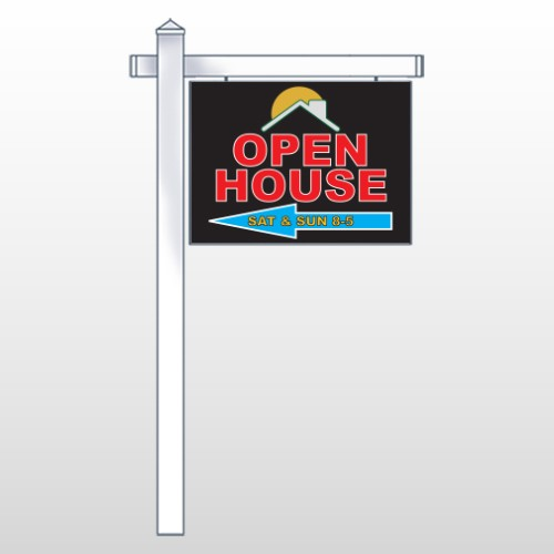 """Open Moon Roof 726 18""""H x 24""""W Swing Arm Sign"""