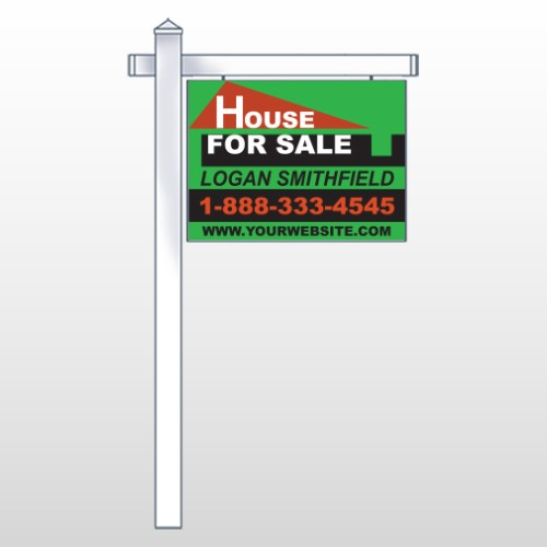 """Red Roof House 855 18""""H x 24""""W Swing Arm Sign"""