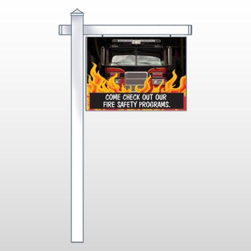 "Safety Program 427 18""H x 24""W Swing Arm Sign"