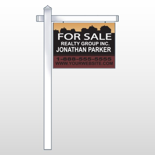 """Silhouette Community 851 18""""H x 24""""W Swing Arm Sign"""