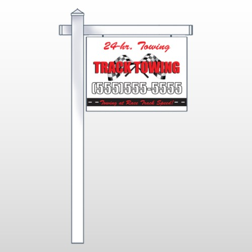 """Towing 311 18""""H x 24""""W Swing Arm Sign"""